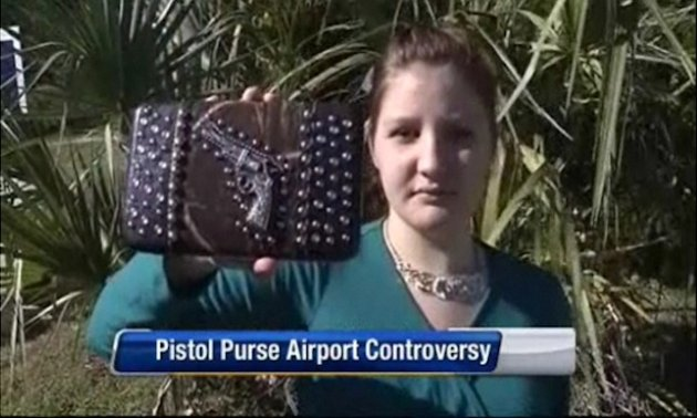 Purse with gun design