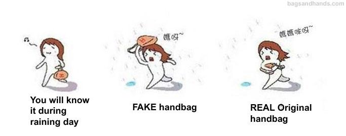 Identify real or fake designer handbag